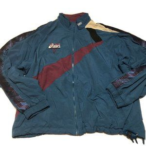 Vintage 90s ASICS Small Logo Windbreaker Jacket L